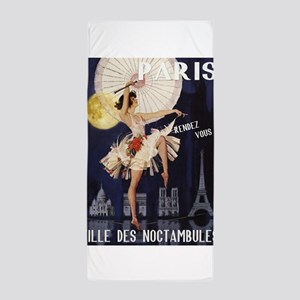 Paris Vintage Poster Beach Towel