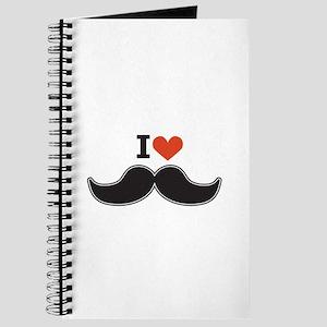 I Love Mustache Journal