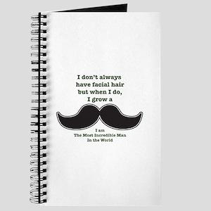 Mustache Saying Journal