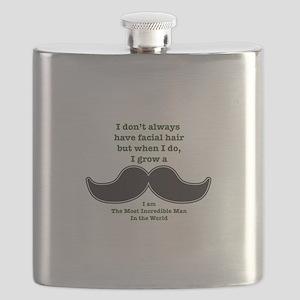 Mustache Saying Flask