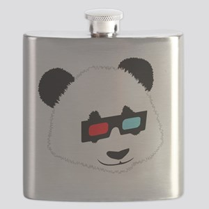 Panda Bear with 3D Glasses Flask