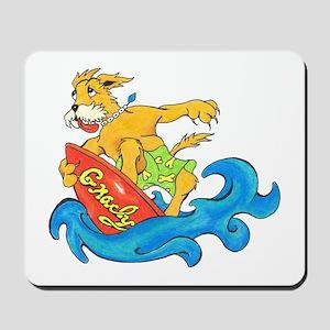 Surfer Dog Gnarly Mousepad