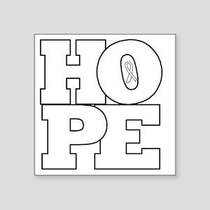 "Hope Hollow Ribbon Square Sticker 3"" x 3"""