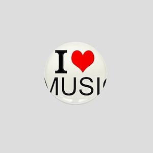 I Love Music Mini Button
