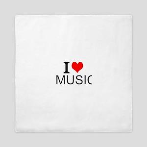 I Love Music Queen Duvet