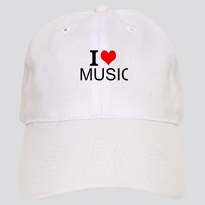 I Love Music Baseball Cap