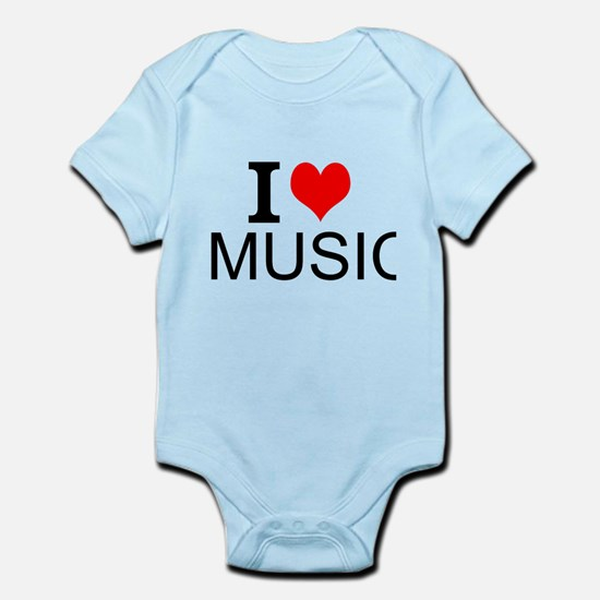 I Love Music Body Suit