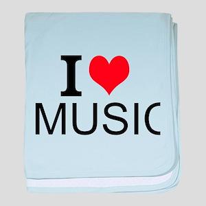 I Love Music baby blanket
