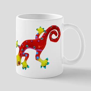 Crazy Colorful Lizard 2 Mugs