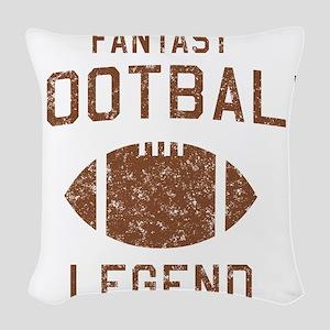 Fantasy football legend Woven Throw Pillow