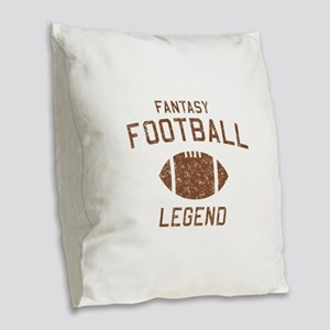 Fantasy football legend Burlap Throw Pillow
