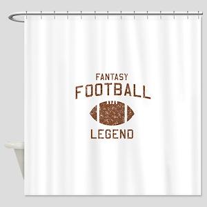 Fantasy football legend Shower Curtain