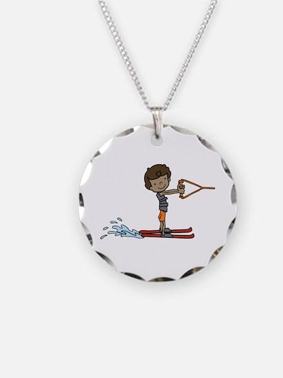 Water Ski Boy Necklace