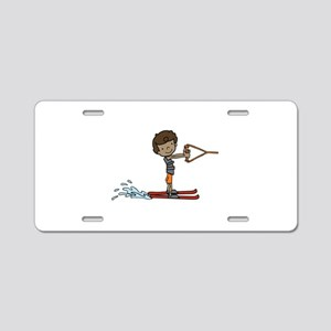 Water Ski Boy Aluminum License Plate