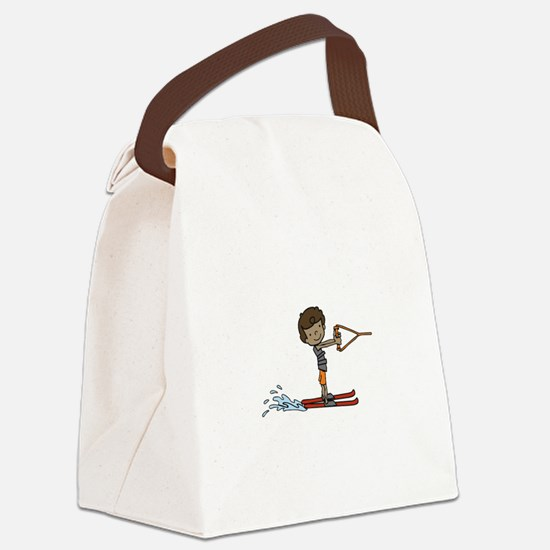 Water Ski Boy Canvas Lunch Bag