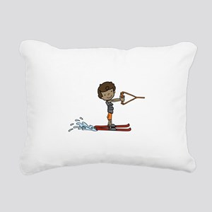 Water Ski Boy Rectangular Canvas Pillow