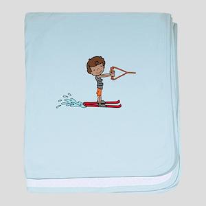 Water Ski Boy baby blanket