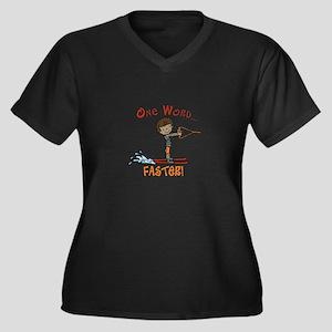 Water Ski Faster Plus Size T-Shirt