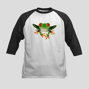 Colorful Tree Frog with Orange Eyes & Toes Basebal