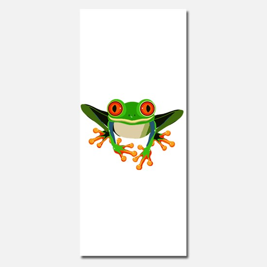 Colorful Tree Frog with Orange Eyes & Toes Invitat