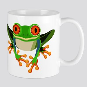 Colorful Tree Frog with Orange Eyes & Toes Mugs