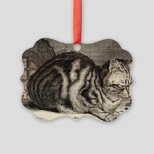 Cat, Mouse Vintage Art Ornament