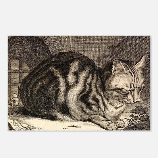 Cat, Mouse Vintage Art Postcards (Package of 8)