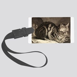 Cat, Mouse Vintage Art Luggage Tag