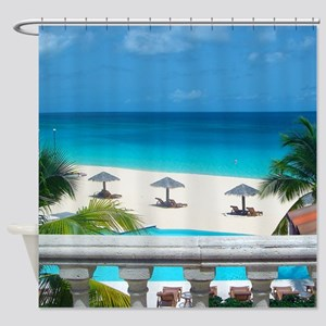 Anguilla Tropical Beach Vacation Shower Curtain