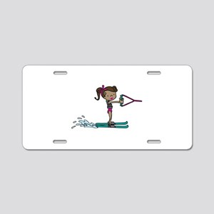 Water Ski Girl Aluminum License Plate