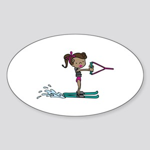 Water Ski Girl Sticker