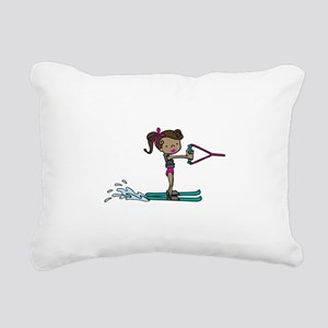 Water Ski Girl Rectangular Canvas Pillow