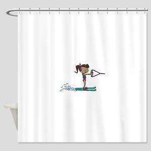 Water Ski Girl Shower Curtain