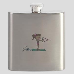 Water Ski Girl Flask