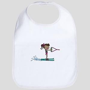 Water Ski Girl Bib