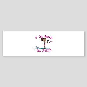 Happy Ski Bumper Sticker