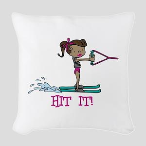 Hit It Woven Throw Pillow