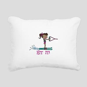 Hit It Rectangular Canvas Pillow