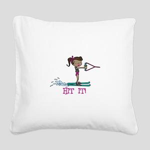 Hit It Square Canvas Pillow
