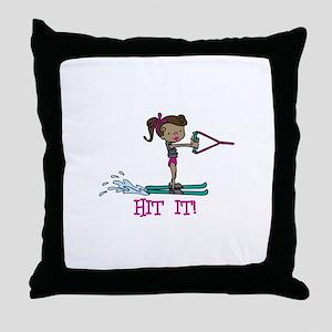 Hit It Throw Pillow