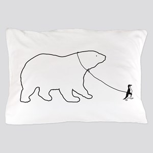 Penguin and Polar Bear Pillow Case