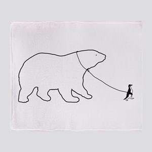 Penguin and Polar Bear Throw Blanket
