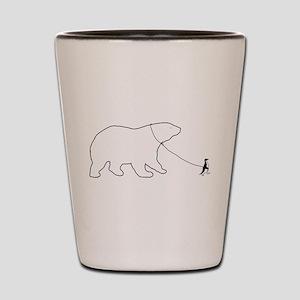 Penguin and Polar Bear Shot Glass