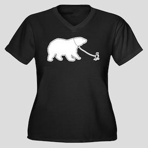 Penguin and Polar Bear Plus Size T-Shirt