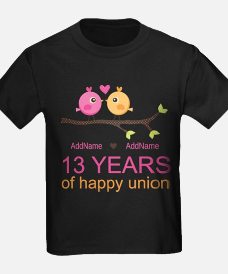 13th Anniversary Personalized T