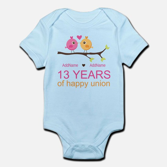 13th Anniversary Personalized Infant Bodysuit