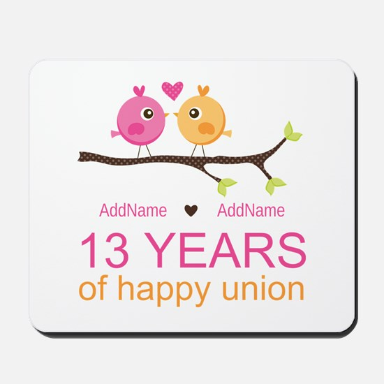 13th Anniversary Personalized Mousepad