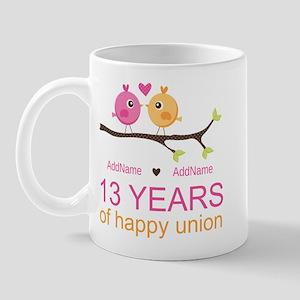 13th Anniversary Personalized Mug