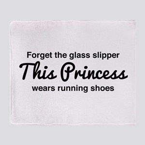Forget the glass slipper Throw Blanket