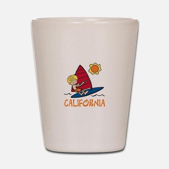 Windsurf California Shot Glass